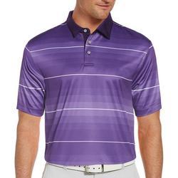 Mens Gradient Stripe Print Polo Shirt