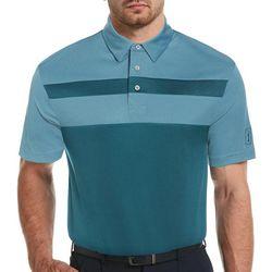 PGA TOUR Mens Colorblock Short Sleeve Polo Shirt