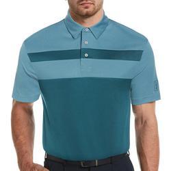 Mens Colorblock Short Sleeve Polo Shirt