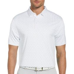 PGA TOUR Mens Short Sleeve Printed Polo Shirt