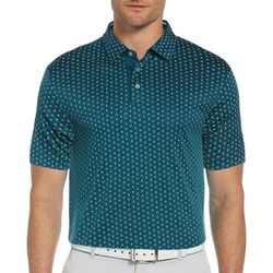 PGA TOUR Mens Short Sleeve Printed Polo Shirt