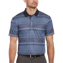 PGA TOUR Mens Short Sleeve Faded Stripe Polo Shirt