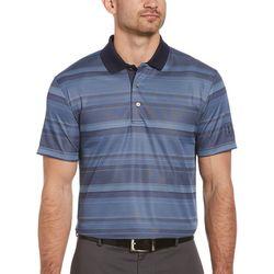 Mens Short Sleeve Faded Stripe Polo Shirt