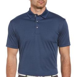 Mens Checkered Print Polo Shirt