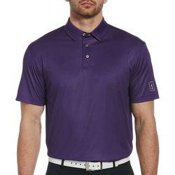PGA TOUR Mens Gingham Short Sleeve Polo Shirt
