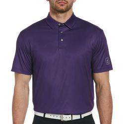 Mens Gingham Short Sleeve Polo Shirt