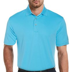 PGA TOUR Mens Airflux Dotted Polo Shirt