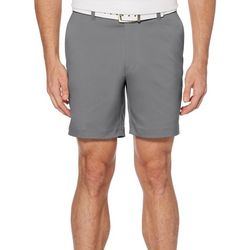 PGA TOUR Mens Flat Front 7 Solid Shorts