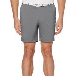 Mens Flat Front 7 Solid Shorts