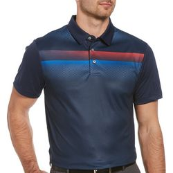 PGA TOUR Mens Geo Ombre Short Sleeve Polo Shirt