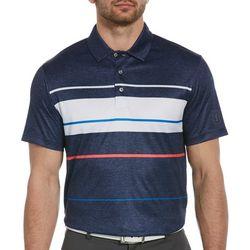 PGA TOUR Mens Bold Block Stripe Short Sleeve Polo Shirt