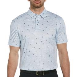 Mens Bold Block Stripe Short Sleeve Polo