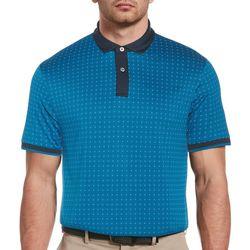 PGA TOUR Mens ECO All Over Crest Polo Shirt