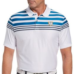 PGA TOUR Mens Chest Stripe Short Sleeve Polo