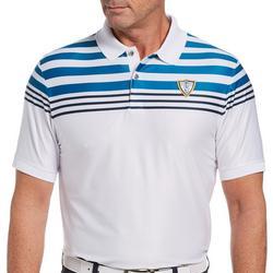 Mens Chest Stripe Short Sleeve Polo