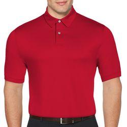 PGA TOUR Mens Jacquard Stripe Polo Shirt