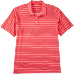 Golf America Mens Feeder Stripe Print Performance Polo Shirt