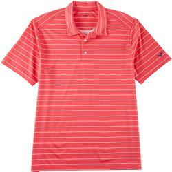 Mens Feeder Stripe Print Performance Polo Shirt