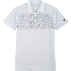 Mens Geometric Print Performance Polo Shirt