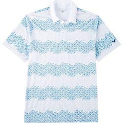 Golf America Mens Stripe Wave Polo Shirt