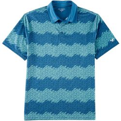 Golf America Mens Stripe Wave Polo Shirt