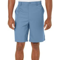 Mens Solid Flat Front Golf Shorts
