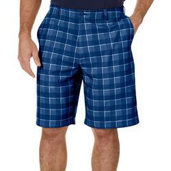 Mens Plaid Print Golf Shorts