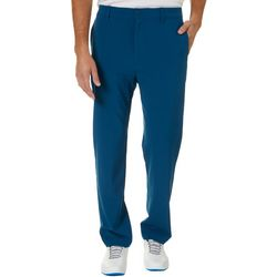 Mens Solid Flat Front Golf Pants