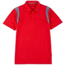 Golf America Mens Solid Contrast Trim Polo Shirt