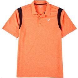 Mens Solid Contrast Trim Polo Shirt