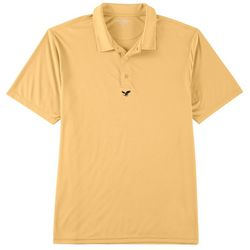 Golf America Mens Solid Button Placket Polo Shirt