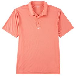 Mens Solid Button Placket Polo Shirt