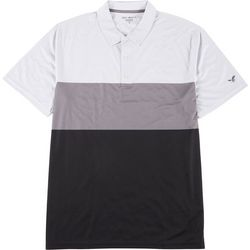 Golf America Mens Colorblock Collared Polo Shirt