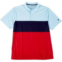 Golf America Mens Block Stripe Polo Shirt