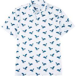 Mens All Over Logo Polo Shirt