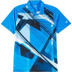 Golf America Mens Geometric Graphic Polo Shirt