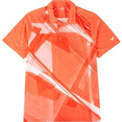 Golf America Mens Geometric Graphic Polo Shirt