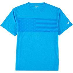Golf America Mens Americana Mesh Front Crew T-Shirt