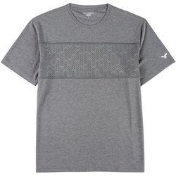 Mens Chevron Mesh Front Crew T-Shirt