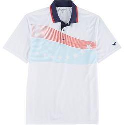 Golf America Mens Stars & Stripe Print Polo
