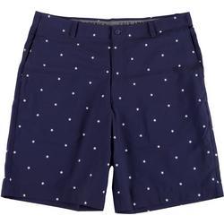 Golf America Mens Star Print Golf Shorts