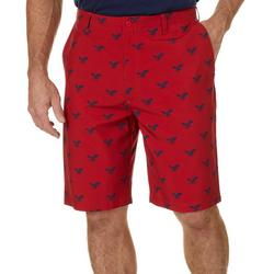 Mens All Over Logo Golf Shorts