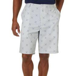 Mens Golf Clubs Print Golf Shorts