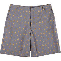 Golf America Mens Palm Print Golf Shorts