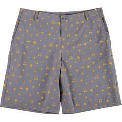Mens Palm Print Golf Shorts
