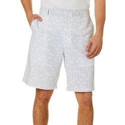 Mens Chevron Print Golf Shorts