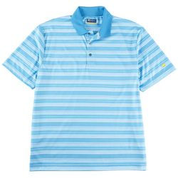 Jack Nicklaus Mens Blue Danube Stripe Golf Polo Shirt