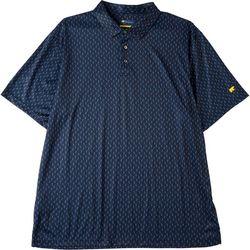 Jack Nicklaus Mens Toucan Print Golf Polo Shirt