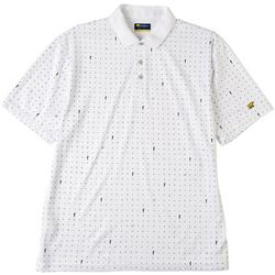Jack Nicklaus Mens Micro Print Golf Polo Shirt