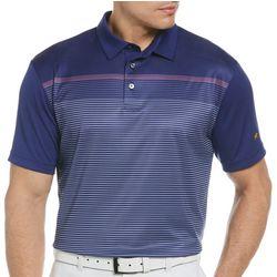 Jack Nicklaus Mens Gradiant Stripe Print Golf Polo